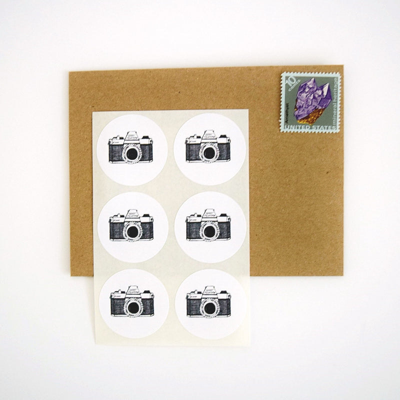 Vintage Camera Stickers - Once Upon Supplies