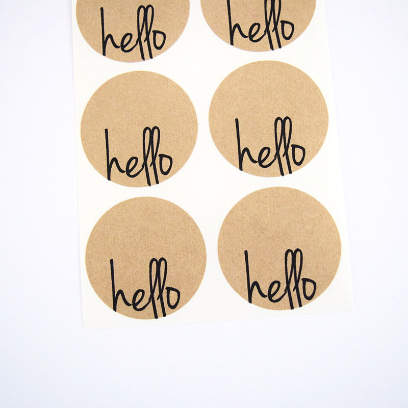 Hello Circle Stickers - Hello Stickers - Once Upon Supplies