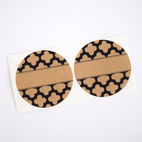 Kitchen Pantry Labels with Moroccan Pattern