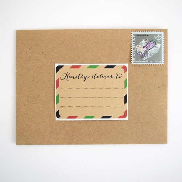 Red and Green Stripes Christmas Gift Labels / Kindly Deliver To - Once Upon Supplies - 2