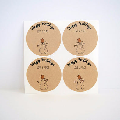 Snowman Mason Jar Labels - Once Upon Supplies - 1