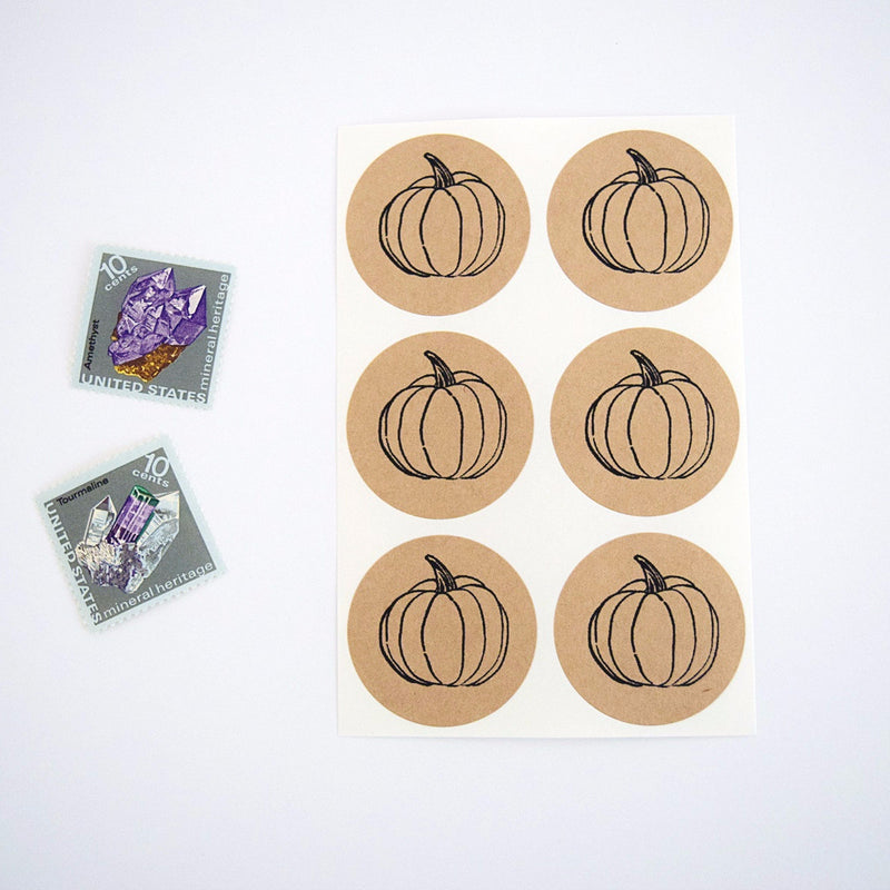Pumpkin Round Stickers - Once Upon Supplies - 1