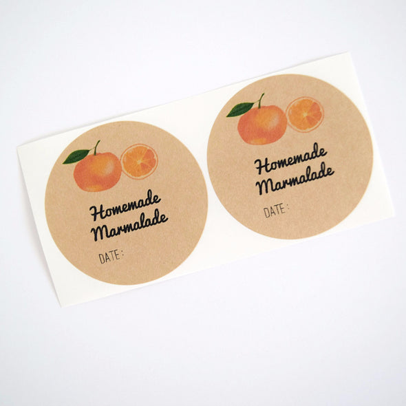 Homemade Orange Marmalade Labels - Mason Jar Labels