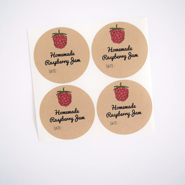 Jam Labels for Homemade Raspberry Jam
