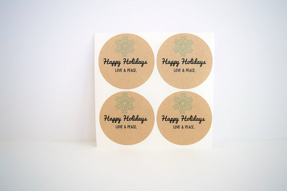 Snowflake Mason Jar Labels Holiday Gifts Labels - Once Upon Supplies - 2