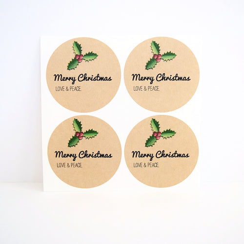 Christmas Holly Jar Labels / Merry Christmas Canning Labels - Once Upon Supplies - 1