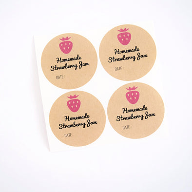 Strawberry Jam Jar Labels - Strawberry Jam Labels | Once Upon Supplies