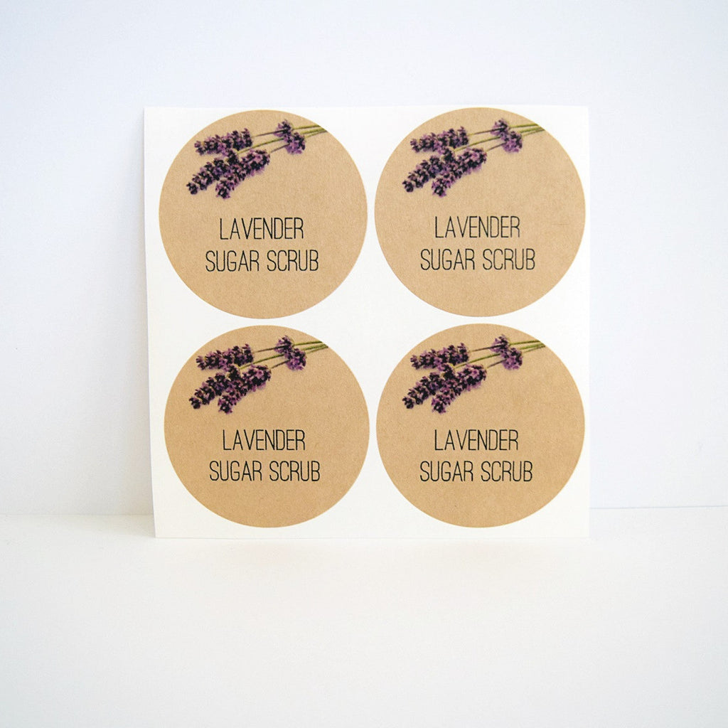 Lavender Sugar Scrub Labels