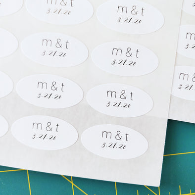 Personalized Oval Wedding Favor Labels