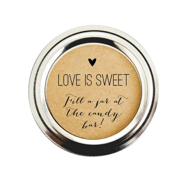 Fill a Jar Candy Bar Favor Stickers for Weddings, Showers and Parties | Once Upon Supplies