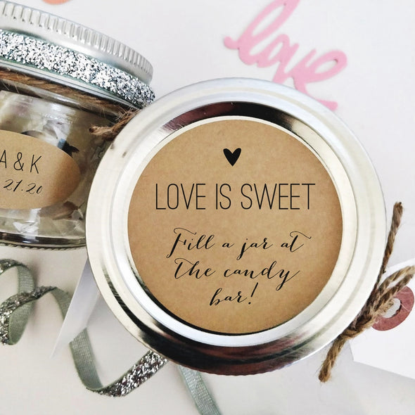 Fill a Jar Candy Bar Favor Labels for Weddings, Showers and Parties | Once Upon Supplies