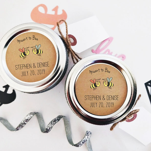 Meant to Bee Honey Favor Labels | Once Upon Supplies
