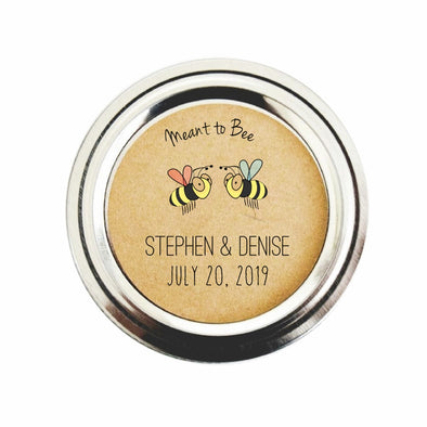 Meant to Bee Honey Jar Labels | Honey Wedding Favor Stickers