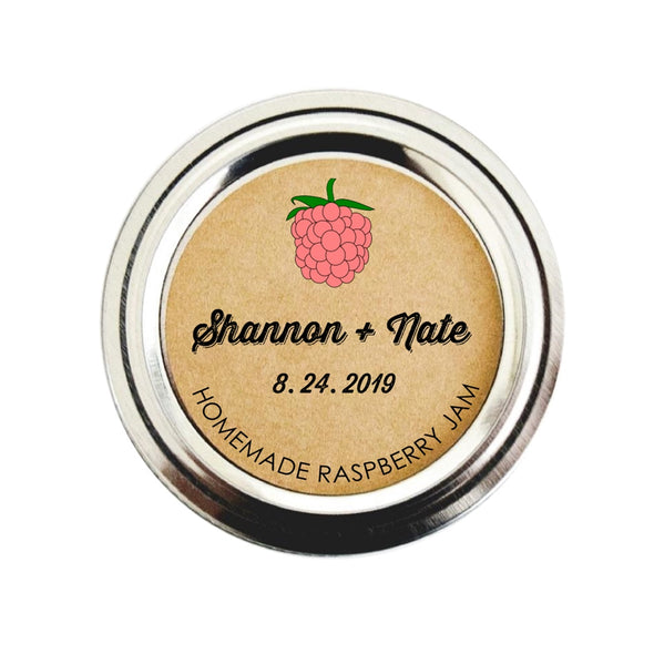Raspberry Jam Stickers for Wedding Favors | Once Upon Supplies