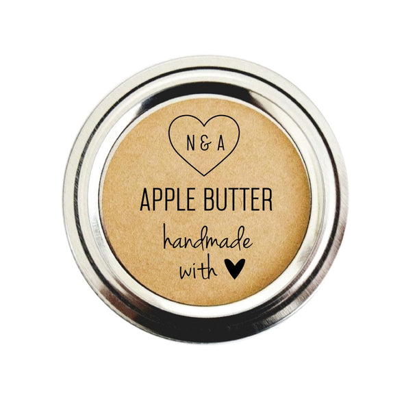 Apple Butter Wedding Favors Labels | Handmade with Love Stickers