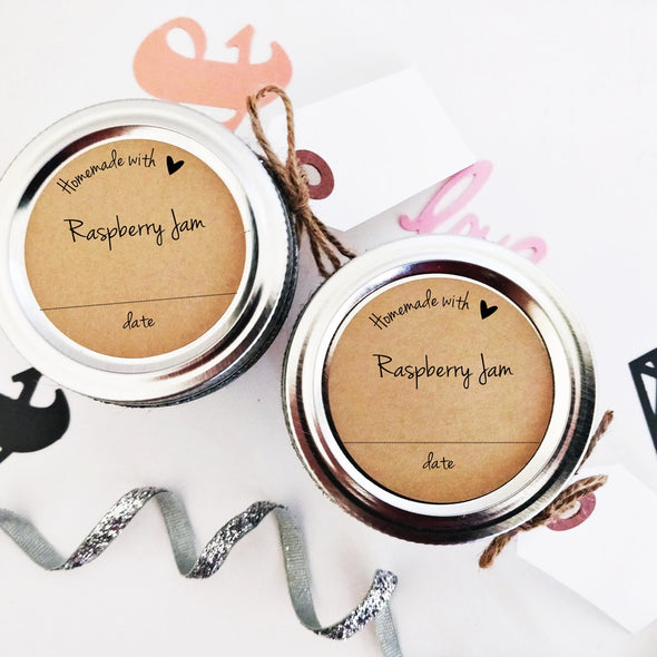 Raspberry Jam Canning Labels | Homemade with Love | Once Upon Supplies