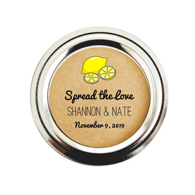 Lemon Curd Wedding Favor Canning Jar Labels | Custom Wedding Seals | Once Upon Supplies