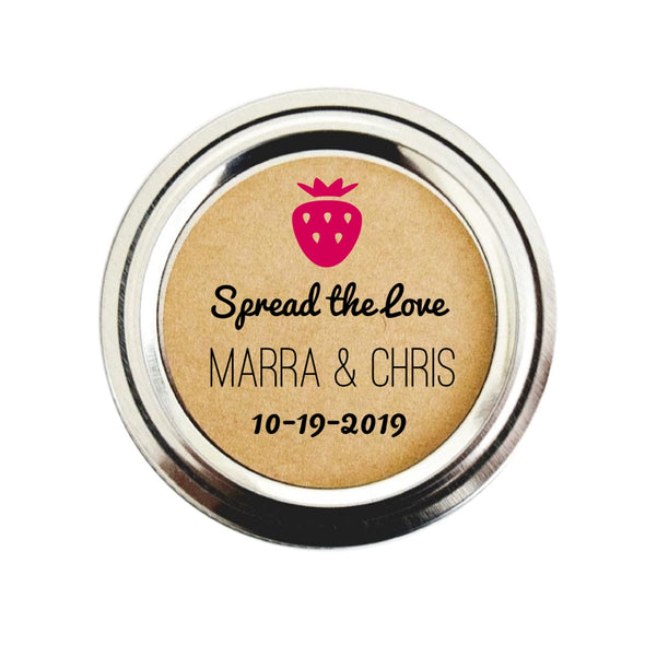 Strawberry Jam Wedding Favor Labels - Once Upon Supplies