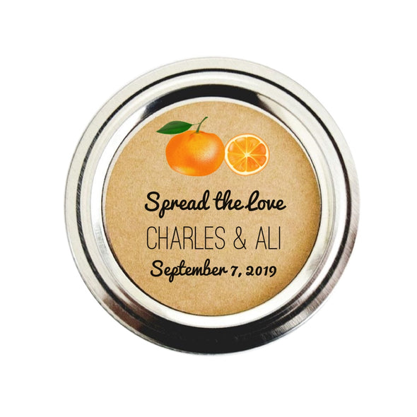 Orange Marmalade Canning Labels for Wedding Favors | Once Upon Supplies