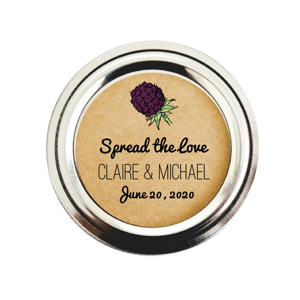 Blackberry Jam Wedding Mason Jar Labels | Custom Jam Jar Stickers | Once Upon Supplies