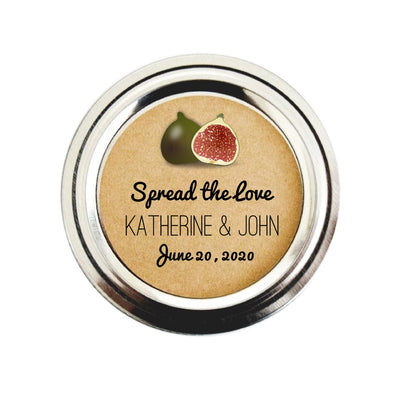 Fig Jam Wedding Mason Jar Favor Labels | Once Upon Supplies