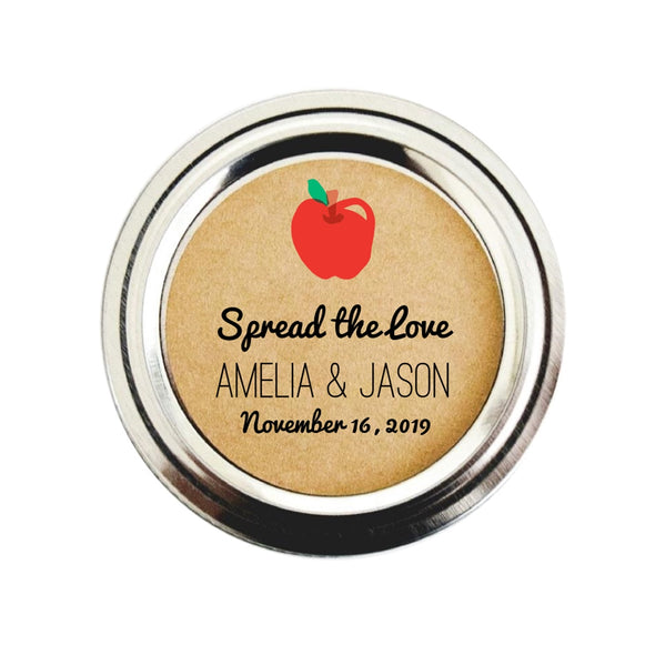 Apple Butter Spread the Love Labels for Wedding Favors | Once Upon Supplies