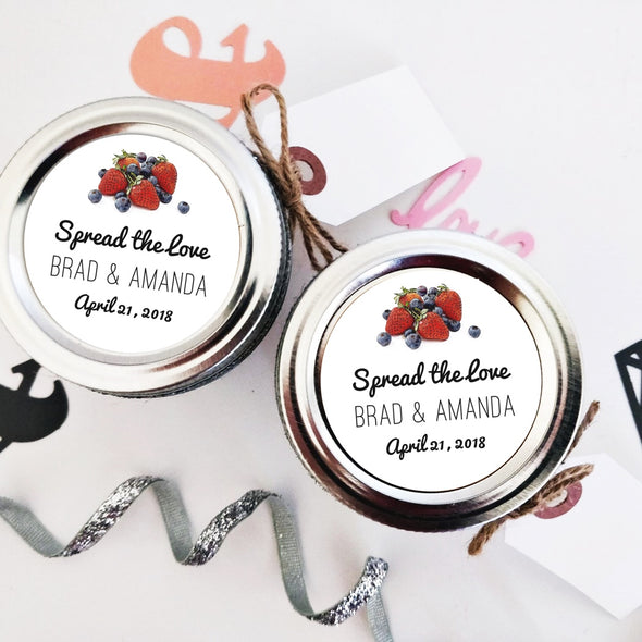 Mixed Berries Jam Wedding Favor Stickers | Once Upon Supplies