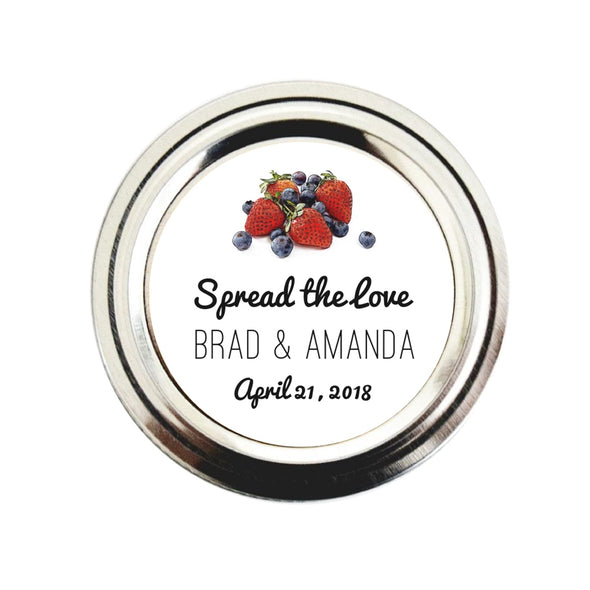 Mixed Berries Jam Jar Labels for Wedding Favors | Once Upon Supplies