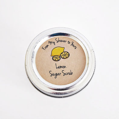 Lemon Sugar Scrub Labels for Bridal and Baby Shower Favors