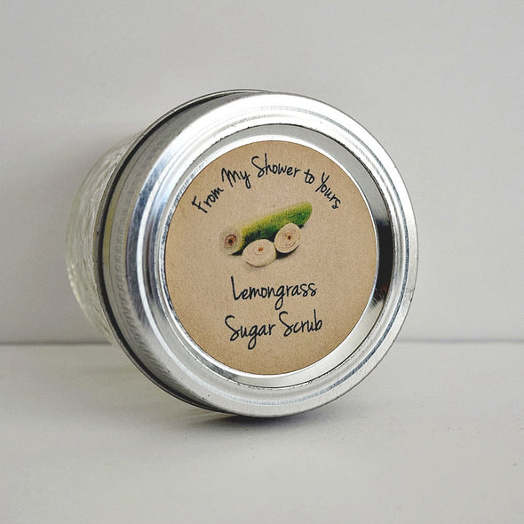 Lemongrass Sugar Scrub Labels