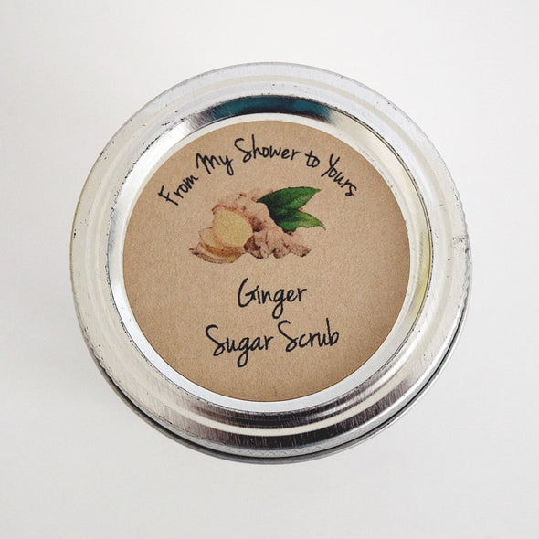 Ginger Sugar Scrub Labels