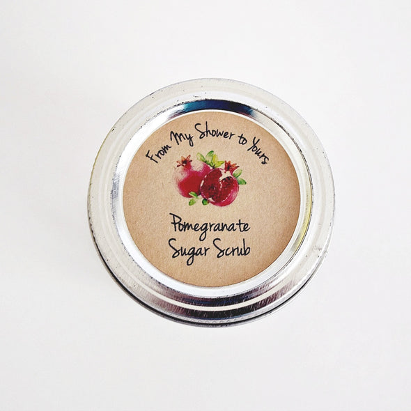 Pomegranate Sugar Scrub Labels