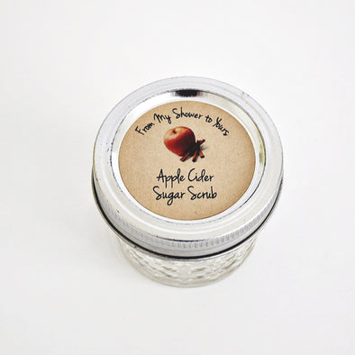 Apple Cider Sugar Scrub Labels