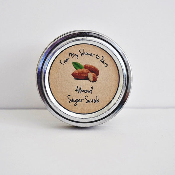 Almond Sugar Scrub Bridal Shower Favor Seals