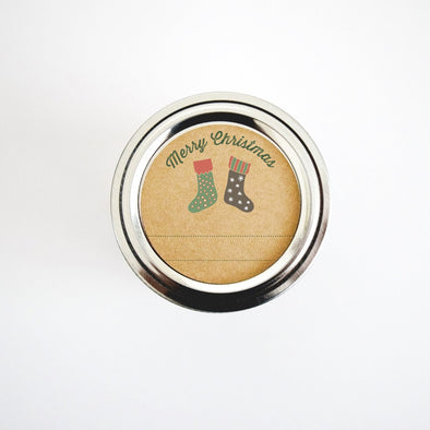 Christmas Mason Jar Labels