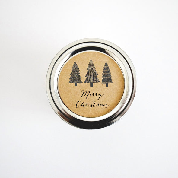 Christmas Trees Gift Labels