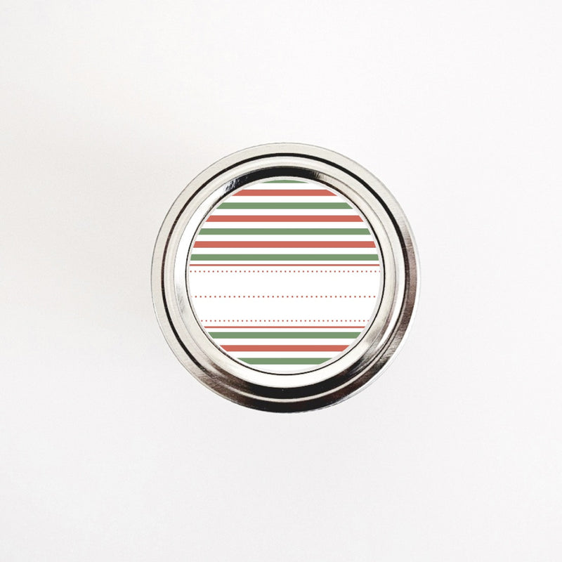Holiday Gift Labels with Red and Green Stripes