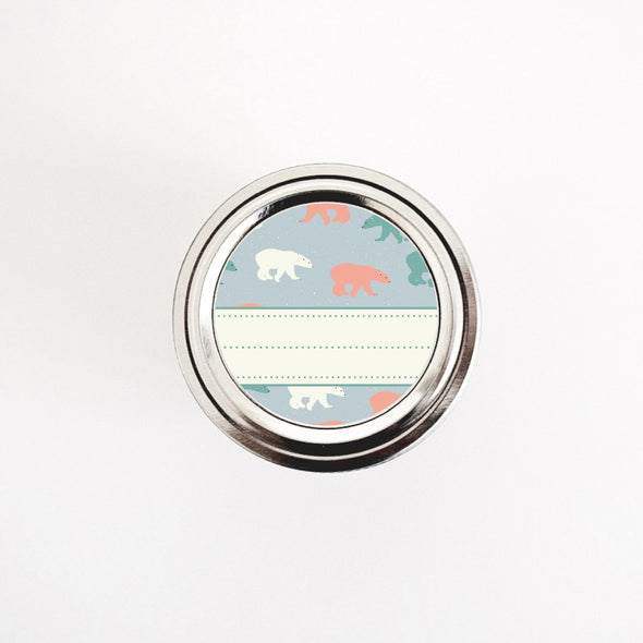 Retro Gift Labels with Polar Bears Design