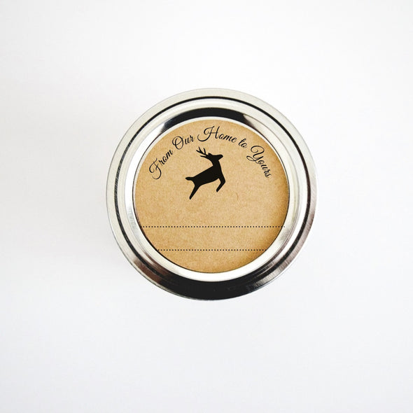 Rustic Reindeer Labels From Our Home to Yours Gift Labels