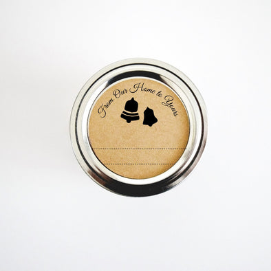 Rustic Jingle Bells Labels From Our Home to Yours Gift Labels