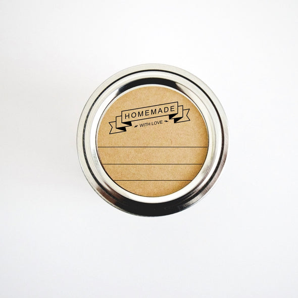 Rustic Homemade with Love Canning Labels | Once Upon Supplies