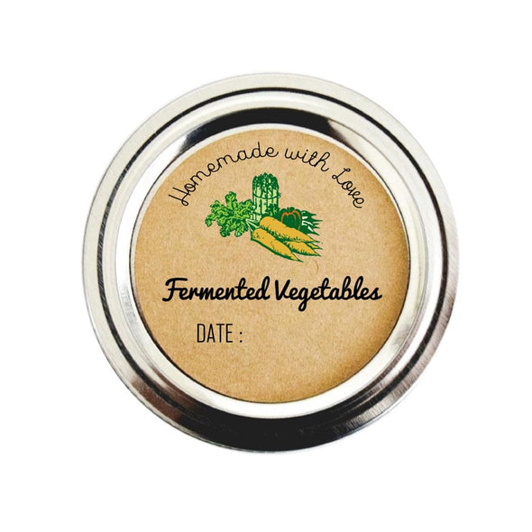 Fermented Vegetables Mason Jar Labels for Canning and Pickling | Once Upon Supplies