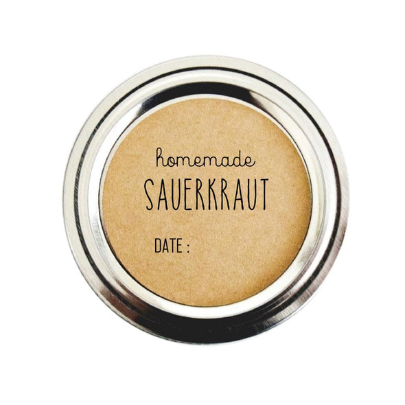 Homemade Sauerkraut Labels with Simple Rustic Design | Once Upon Supplies
