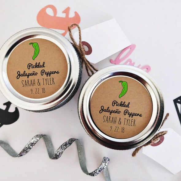 Pickled Jalapeno Labels for Wedding Favors - Once Upon Supplies