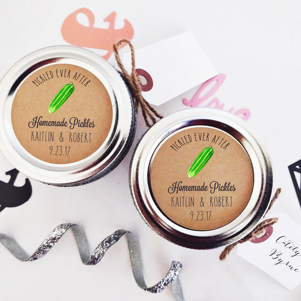 Cucumber Pickle Wedding Favor Labels | Once Upon Supplies