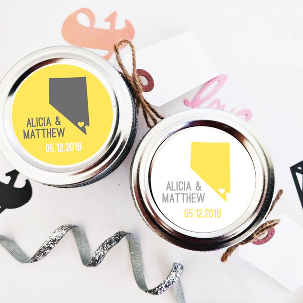 State Map Wedding Favor Labels | Once Upon Supplies
