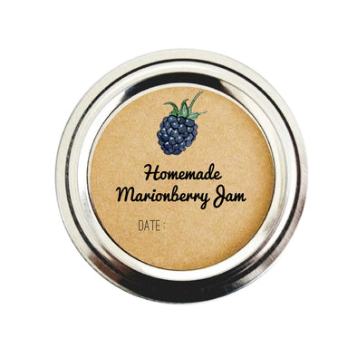 Homemade Marionberry Jam Labels for Canning | Once Upon Supplies