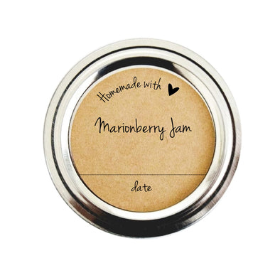 Homemade with Love Marionberry Jam Canning Labels | Once Upon Supplies