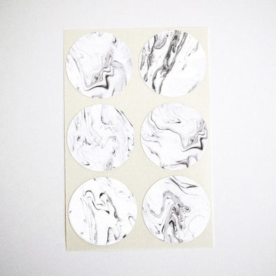 Gray Marble Stickers / Seals / Labels