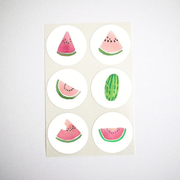 Watercolor Watermelon Stickers
